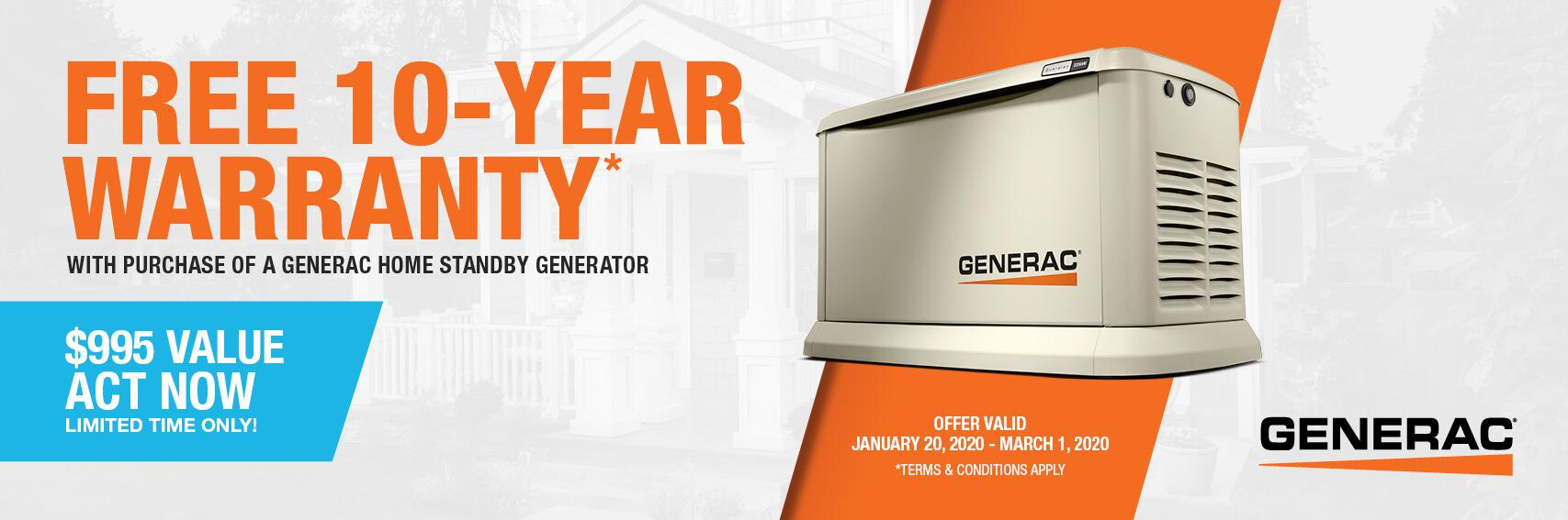 Homestandby Generator Deal | Warranty Offer | Generac Dealer | Bethel, OH